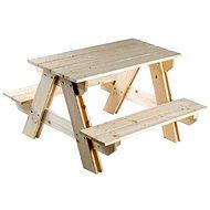 Dřevěná souprava stolek + lavice