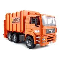 Bruder MAN Popelářské auto oranžové se 2 popelnicemi