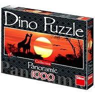 Dino Žirafy při západu slunce panoramatic
