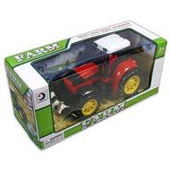 Červený traktor na setrvačník