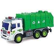 Popelářské auto - zelený kontejner