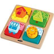 """Woody Destička s puzzle- tvary """"Slunce domova"""""""