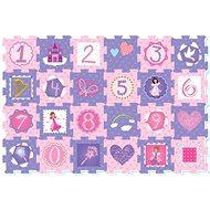 Pěnové puzzle - Princezny a čísla 24 ks
