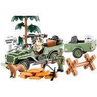 Cobi Jeep Willys s nákladním přívěsem