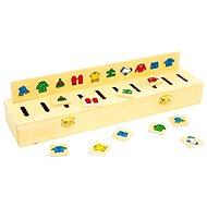 Dřevěná motorická hra - Dřevěná vkládačka Třídění