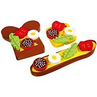 Dřevěné potraviny - Obložený chléb