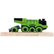 Bigjigs Elektrická lokomotiva - Flying Scotsman zelená
