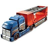 Hot Wheels Havarující tahač modro oranžový