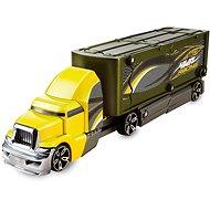 Hot Wheels Havarující tahač žluto zelený