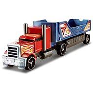Hot Wheels Havarující tahač červeno modrý