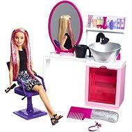 Mattel Barbie - Kadeřnický salón s třpytkami s blondýnkou