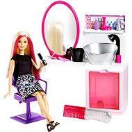 Mattel Barbie - Kadeřnický salón s třpytkami DTK05