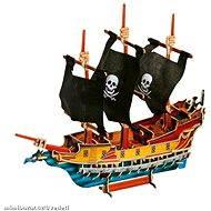 Dřevěné 3D Puzzle - Pirátská loď