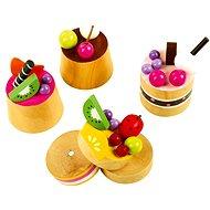 Dřevěné potraviny - Dřevěné ovocné dortíky