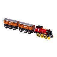 Small foot Elektrická lokomotiva se 2 vagónky