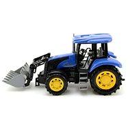 Traktor modrý na setrvačník s radlicí