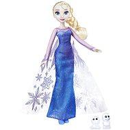 Frozen panenka Elsa se třpytivými šaty a kamarádem