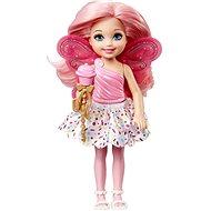 Barbie víla Chelsea světle růžová