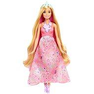 Mattel Barbie v růžových šatech s květinamy