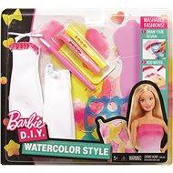Mattel Barbie D.I.Y. Akvarelové bílo-růžové návrhářství