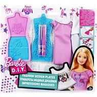 Mattel Barbie D.I.Y. Akvarelové bílo-fialové návrhářství
