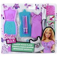 Mattel Barbie D.I.Y. Módní návrhářské šablony – fialovo-modré