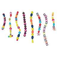 B-Toys Spojovací korále a tvary Pop Arty 50 ks fialové/tyrkysové