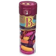 B-Toys Spojovací korále a tvary Pop Arty 50 ks růžové/oranžové