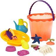 B-Toys Velká sada hraček na písek v kyblíku 10 ks