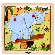 Woody Puzzle ze 4 dílů - Slon