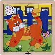 Woody Puzzle ze 4 dílů - Kočička