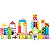 Woody Stavebnice kostky barevné