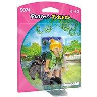 Playmobil 9074 PLM-Friends Ošetřovatelka s gorilím mládětem