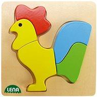 Lena Dřevěné puzzle - kohout