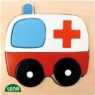 Lena Dřevěné puzzle - sanitka