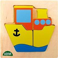 Lena Dřevěné puzzle - loď