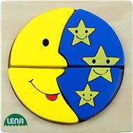 Lena Dřevěné puzzle - měsíc a hvězdy