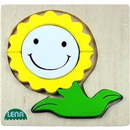 Lena Dřevěné puzzle - květinka