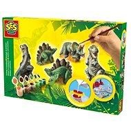SES Sádrový trojkomplet – dinosauři