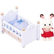 Sylvanian Families Nábytek chocolate králíků – baby králík v postýlce