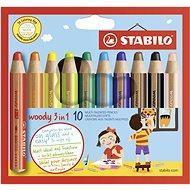 Stabilo Woody 10 barev