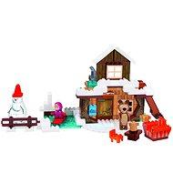 PlayBIG Bloxx Máša a medvěd Míšův dům zimní