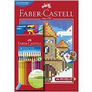Faber-Castell Pastelky Grip 2001 + Omalovánky Pixel-It