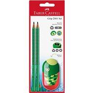 Faber-Castell Grafitová Tužka Grip 2001 2 ks + Ořezávátko Kids