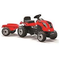 Šlapací traktor Smoby Farmer XL s vlečkou - červený