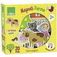 Vilac Dřevěné magnetky Farma 20ks