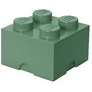 LEGO úložný box 250 x 250 x 180 mm - army zelená