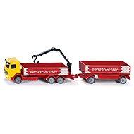 Siku Super - Kamion na přepravu stavebních materiálů s přívěsem