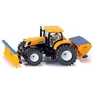 Siku Super - Traktor s přední radlicí a sypačem soli