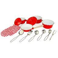 Woody Červené kuchyňské nádobí s chňapkou, 13 dílů